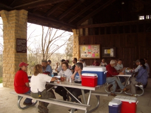 Everyone enjoyed lunch at the Trail House