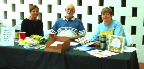 Debra, Peter, and Beth at the Daff Sale